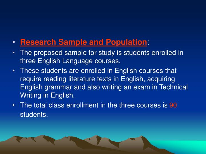 Research Sample and Population
