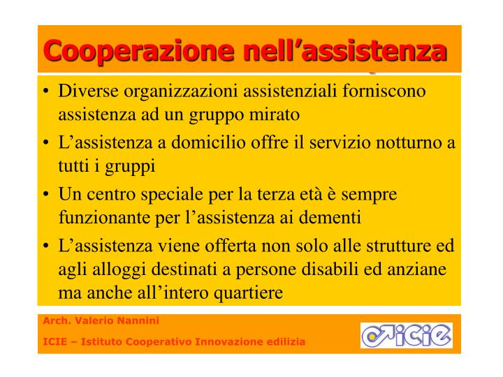 Cooperazione nell'assistenza