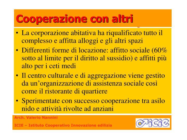 Cooperazione con altri