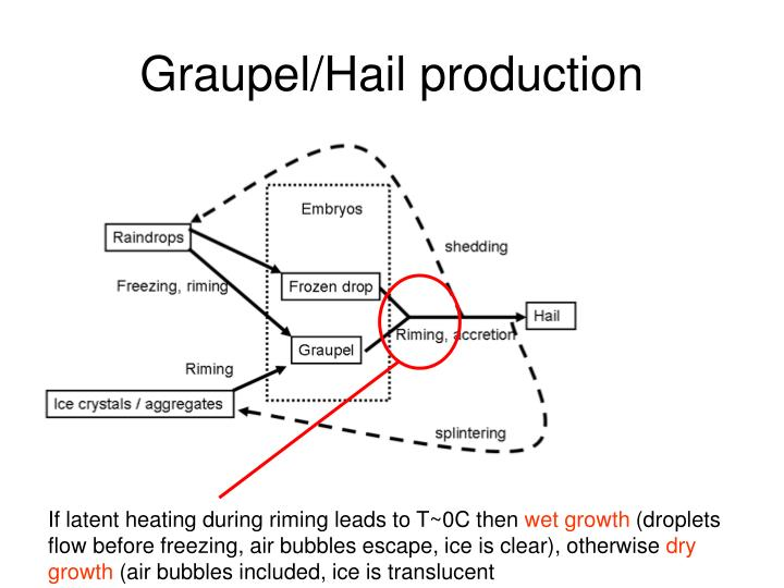 Graupel/Hail production