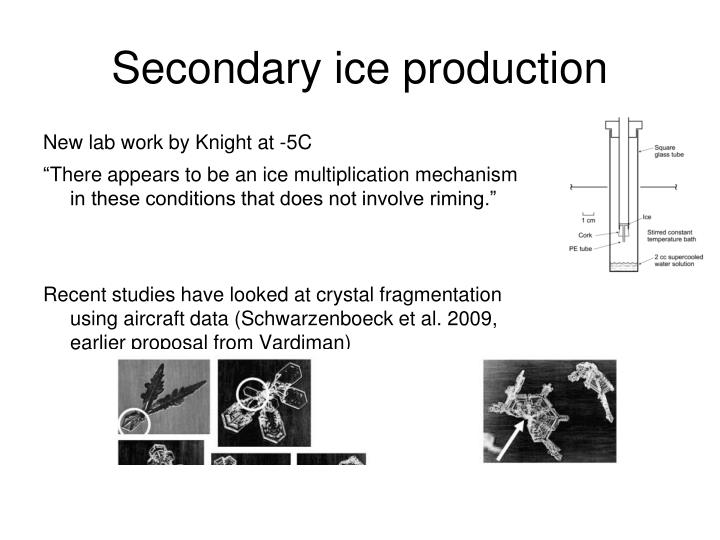 Secondary ice production