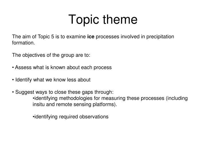 Topic theme
