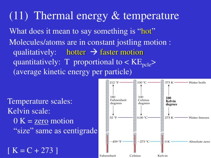 Temperature scales: