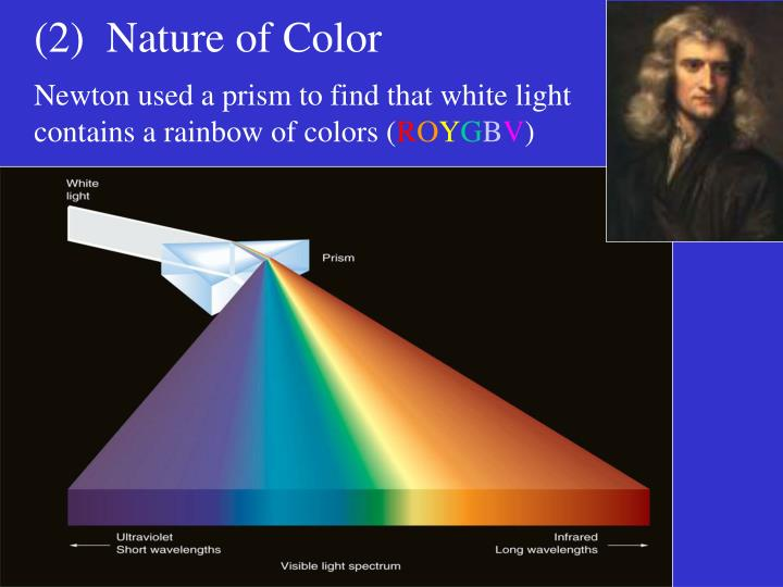 (2)  Nature of Color