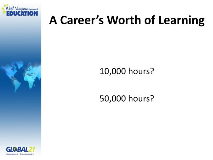 A Career's Worth of Learning