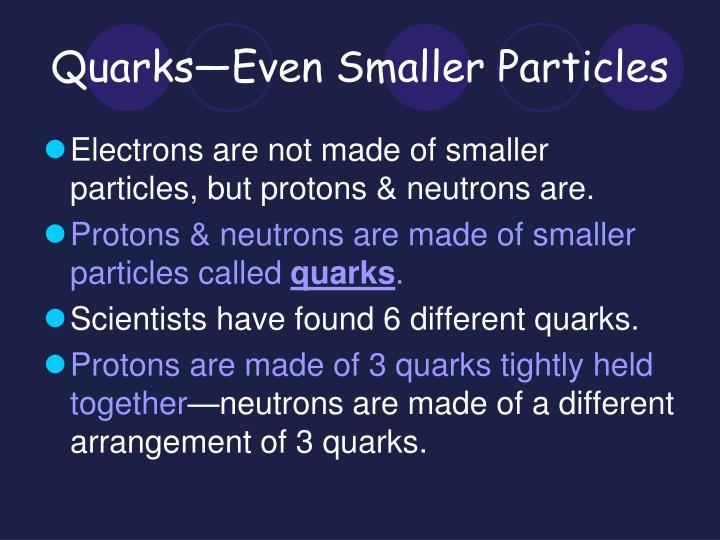 Quarks—Even Smaller Particles