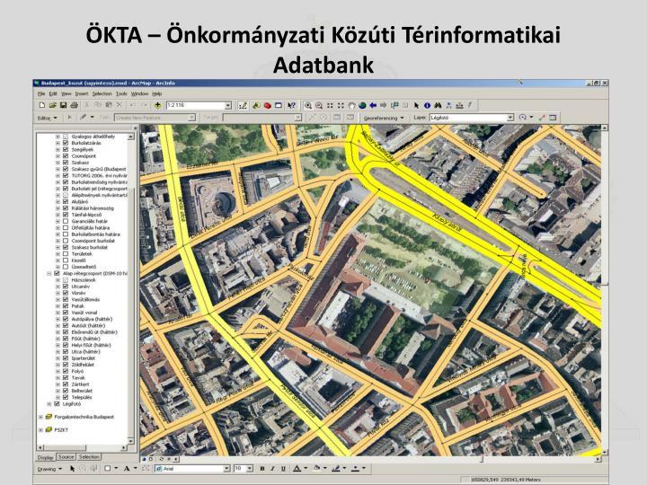 ÖKTA – Önkormányzati Közúti Térinformatikai  Adatbank