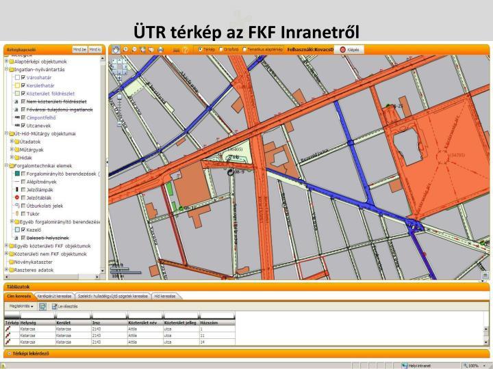 ÜTR térkép az FKF