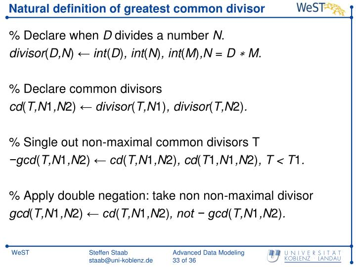 Natural definition of greatest common divisor