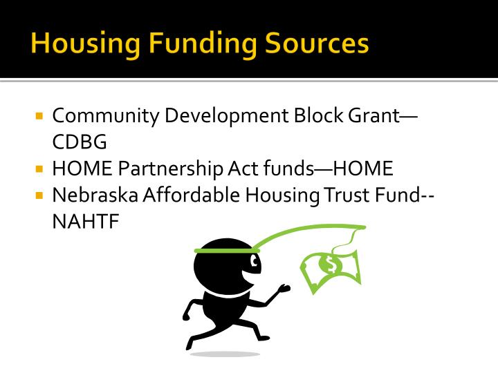 Housing funding sources