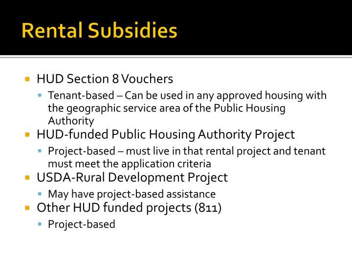 Rental Subsidies