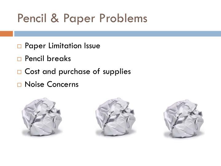Pencil & Paper Problems