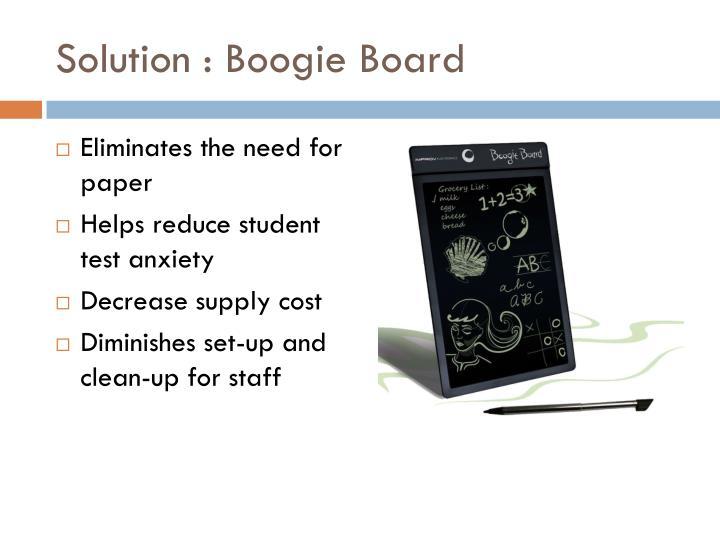 Solution : Boogie Board
