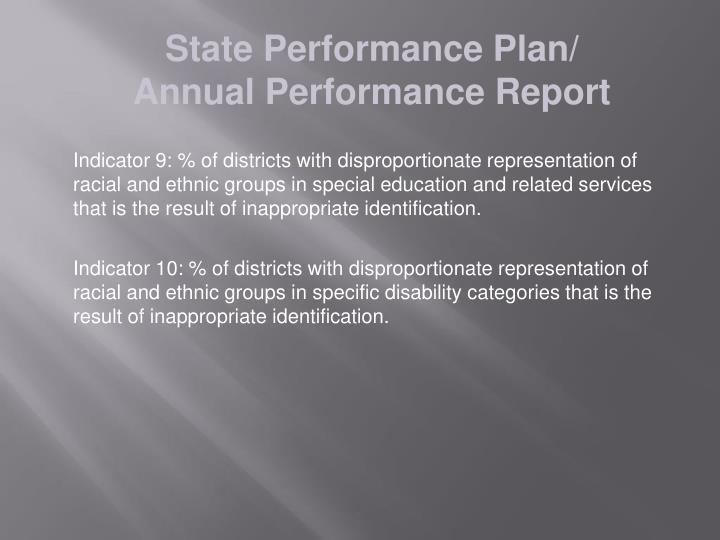 State Performance Plan/
