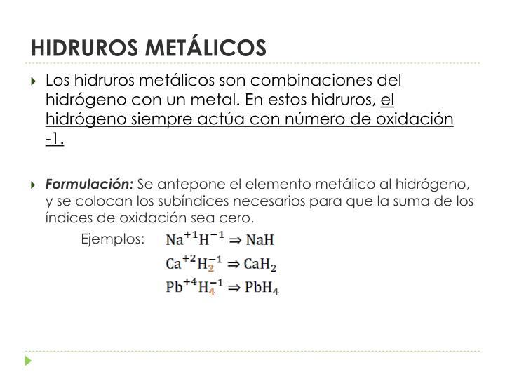 HIDRUROS METÁLICOS
