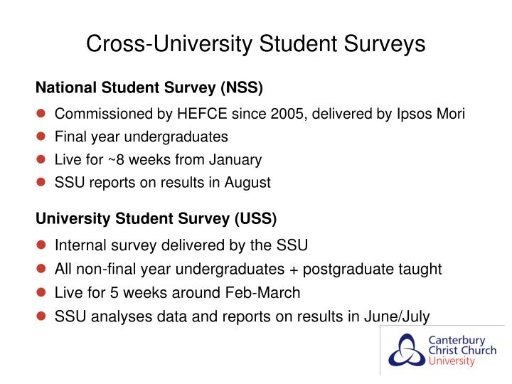 Cross-University Student Surveys