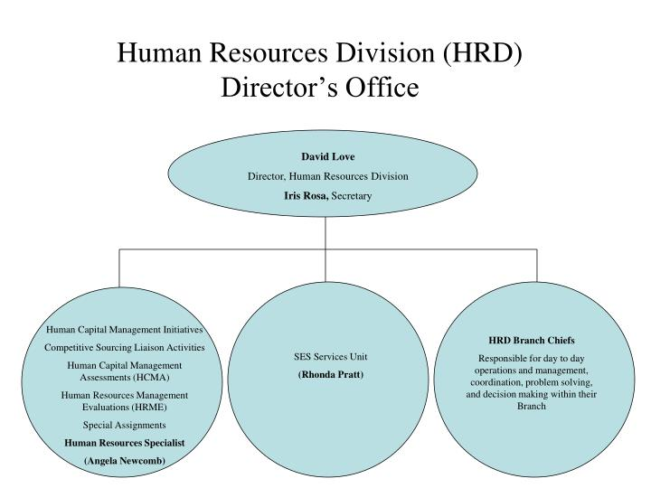 Human resources division hrd director s office