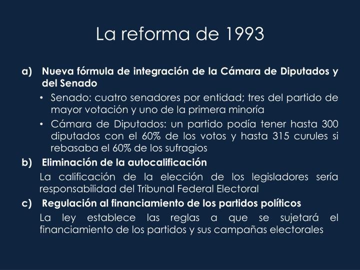 La reforma de 1993
