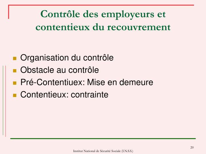 Contrôle des employeurs et contentieux du recouvrement