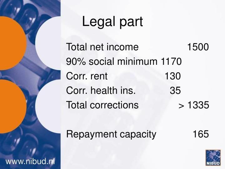Legal part