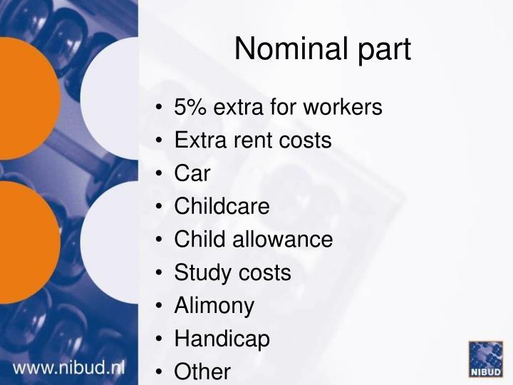 Nominal part