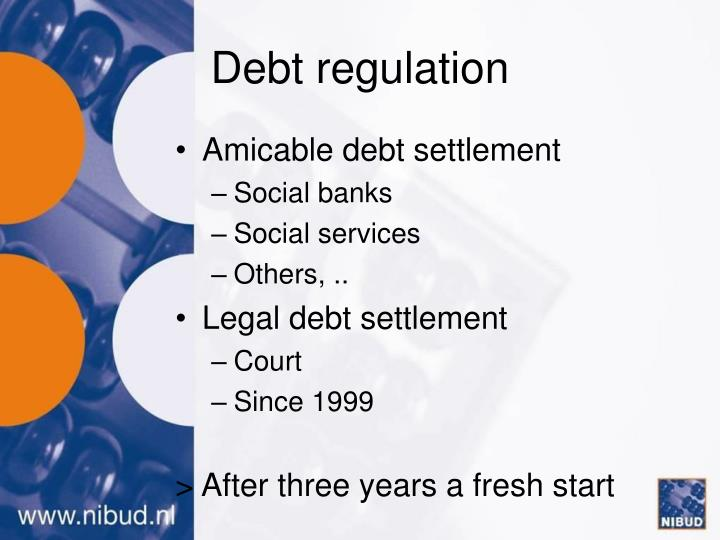 Debt regulation