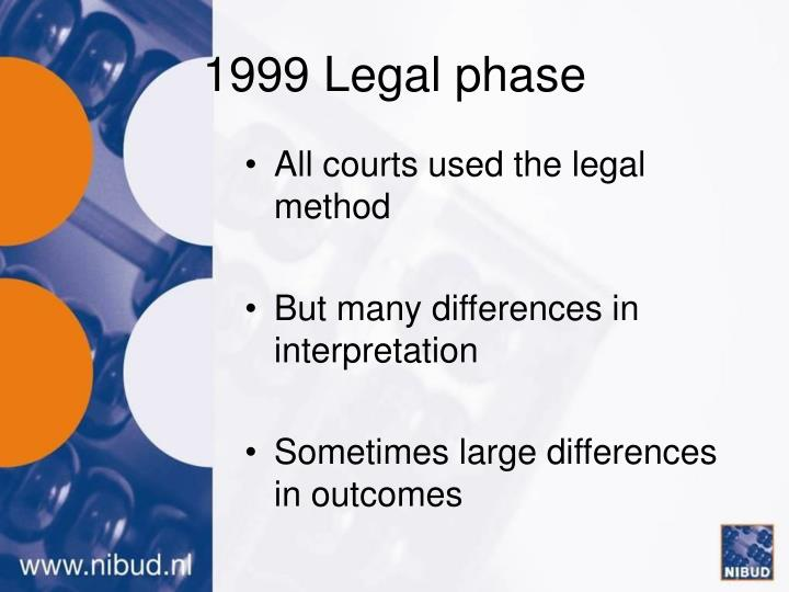 1999 Legal phase