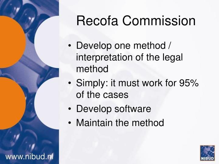 Recofa Commission