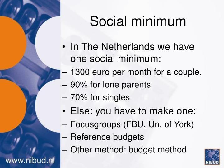 Social minimum