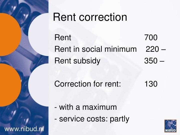 Rent correction