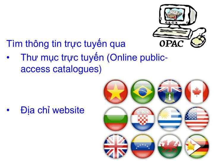 Tìm thông tin trực tuyến qua