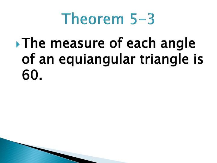 Theorem 5-3