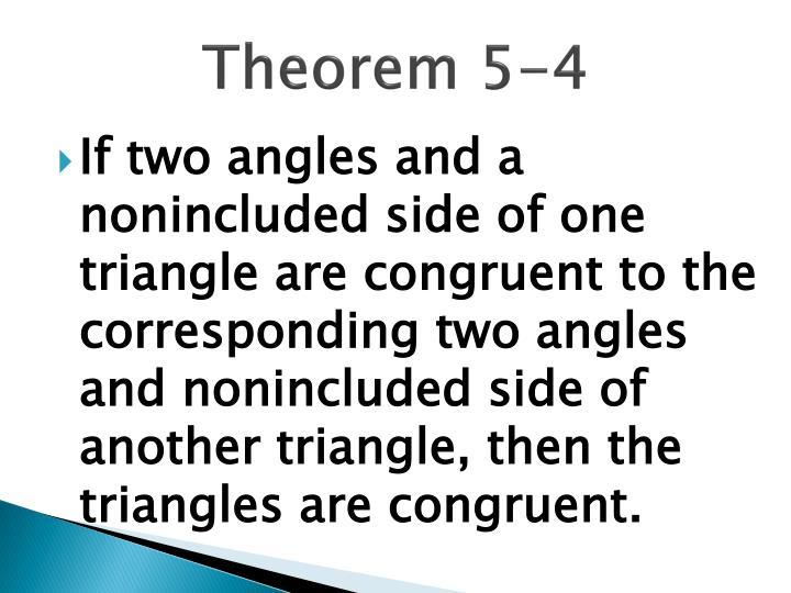 Theorem 5-4