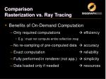 comparison rasterization vs ray tracing4