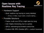 open issues with realtime ray tracing2