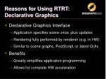 reasons for using rtrt declarative graphics