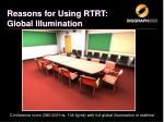 reasons for using rtrt global illumination1