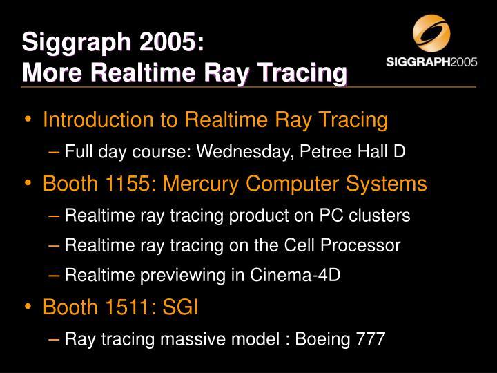 Siggraph 2005: