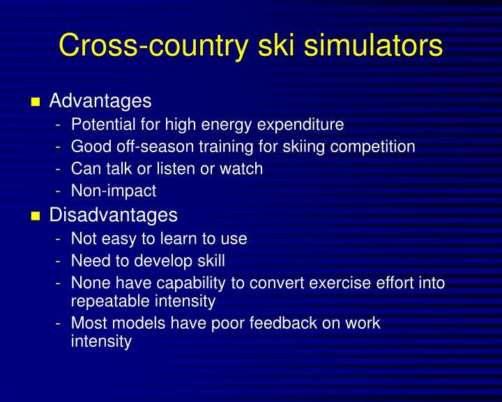 Cross-country ski simulators