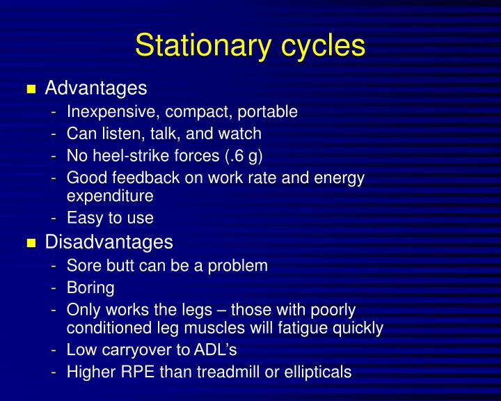 Stationary cycles