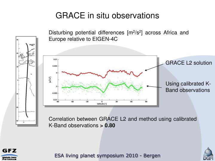 GRACE in situ observations