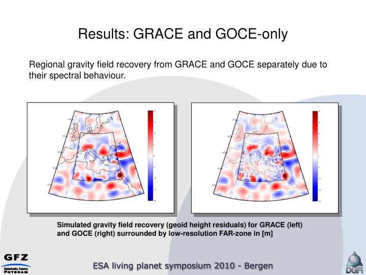 Results: GRACE and GOCE-only