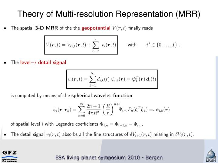 Theory of Multi-resolution Representation (MRR)