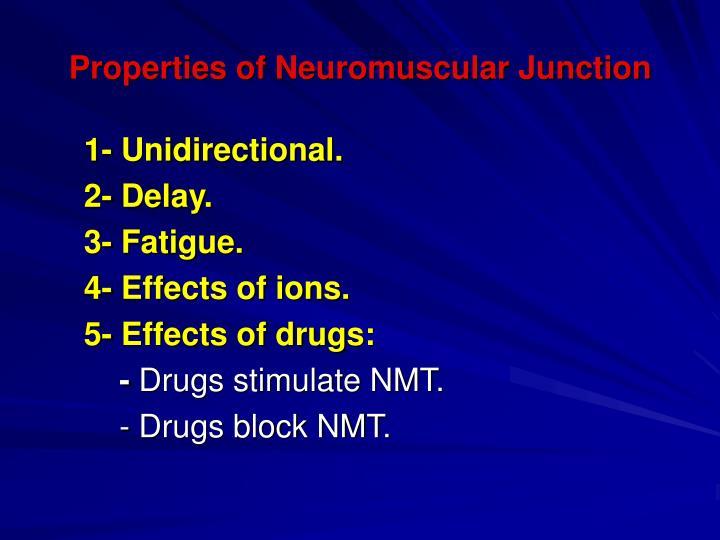Properties of Neuromuscular Junction