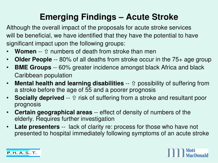 Emerging Findings – Acute Stroke