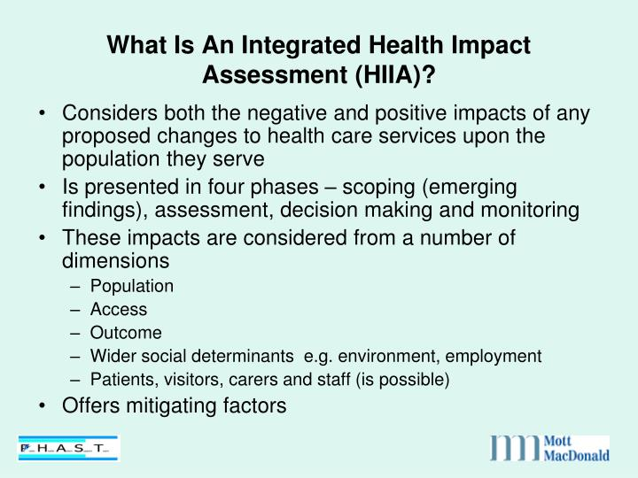 What Is An Integrated Health Impact Assessment (HIIA)?