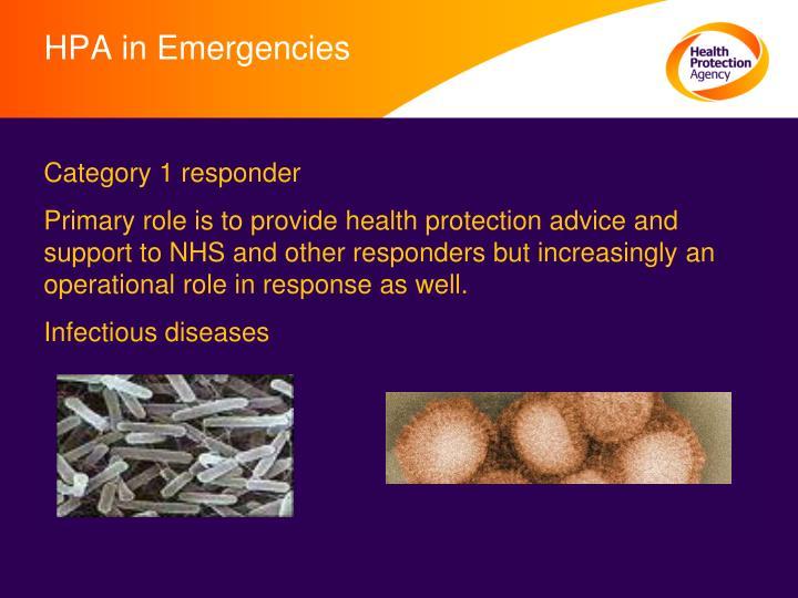 HPA in Emergencies
