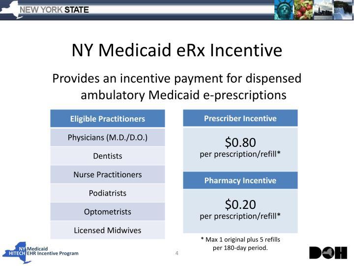 NY Medicaid eRx Incentive