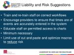 liability and risk suggestions