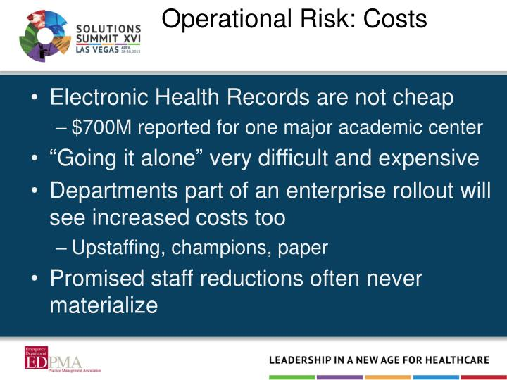 Operational Risk: Costs